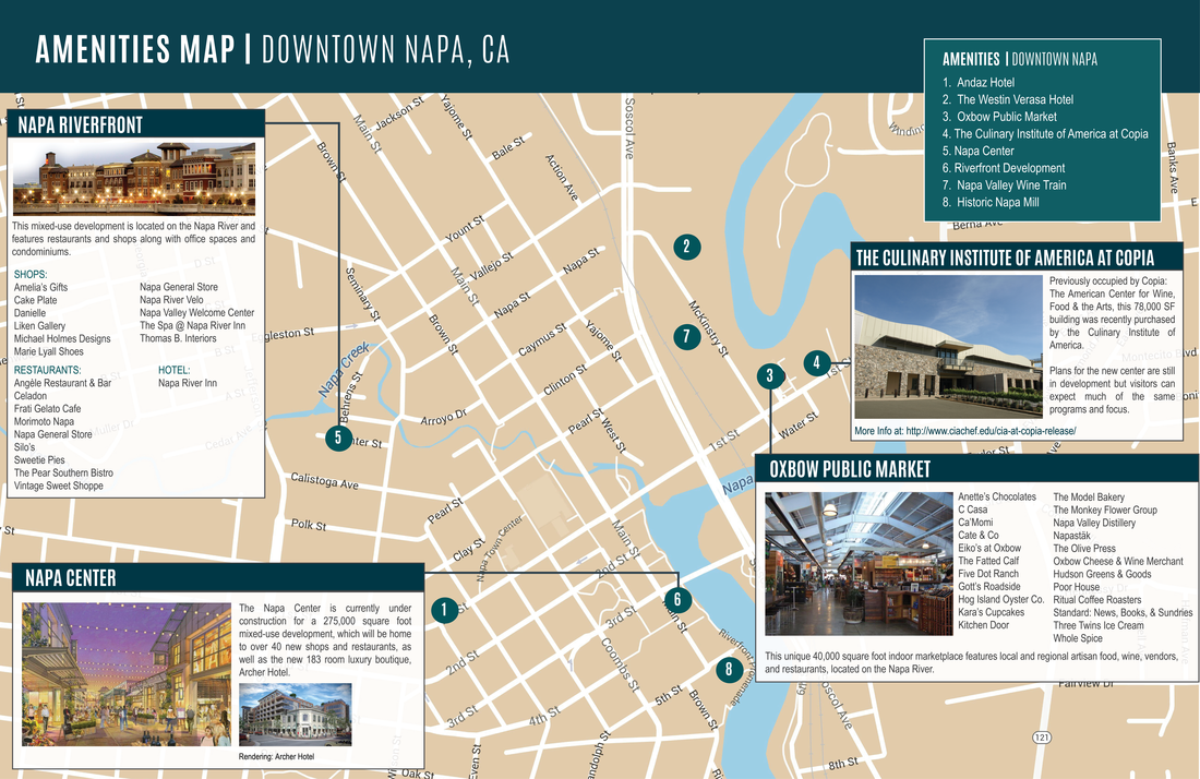 DOWNTOWN NAPA AMENITIES MAP